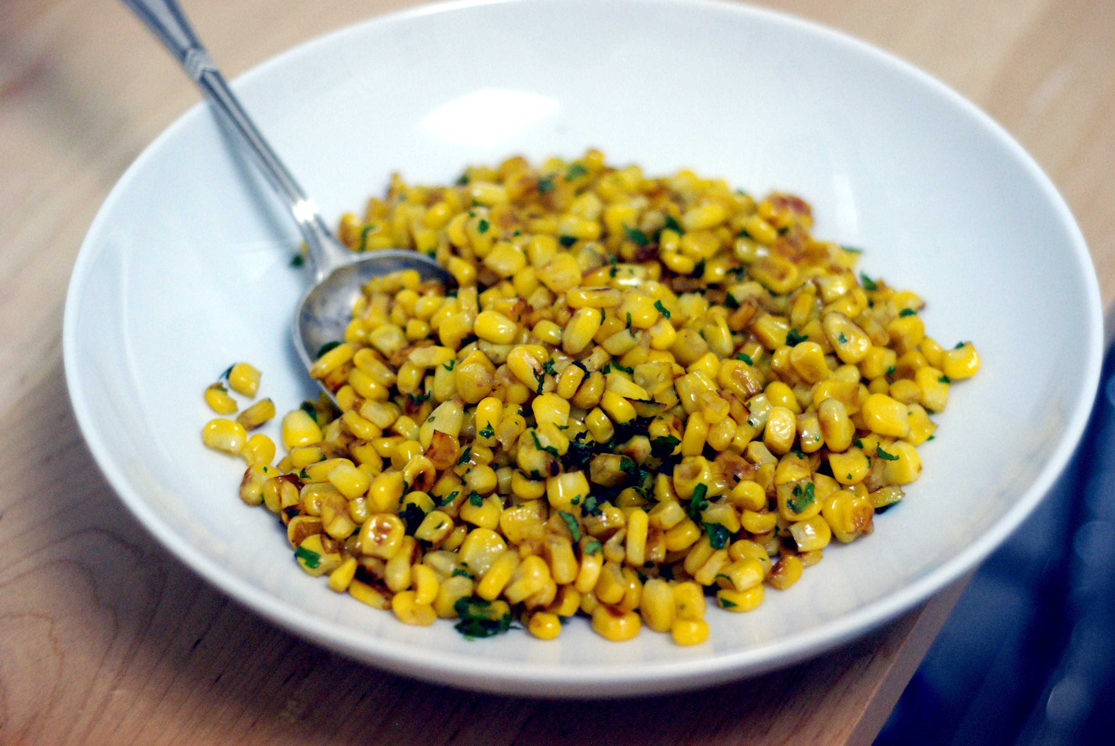 Julia Moskin's Caramelized Corn with Fresh Mint - The