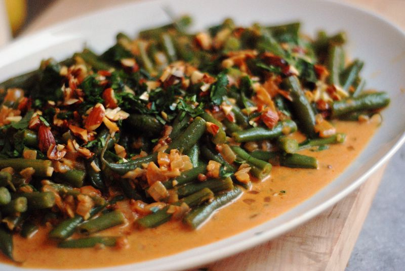 Julie Sahni's Bihari Green Beans Masala - The Wednesday Chef