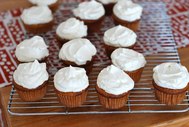 Carrot Cupcakes With Mascarpone Icing Recipe — Dishmaps