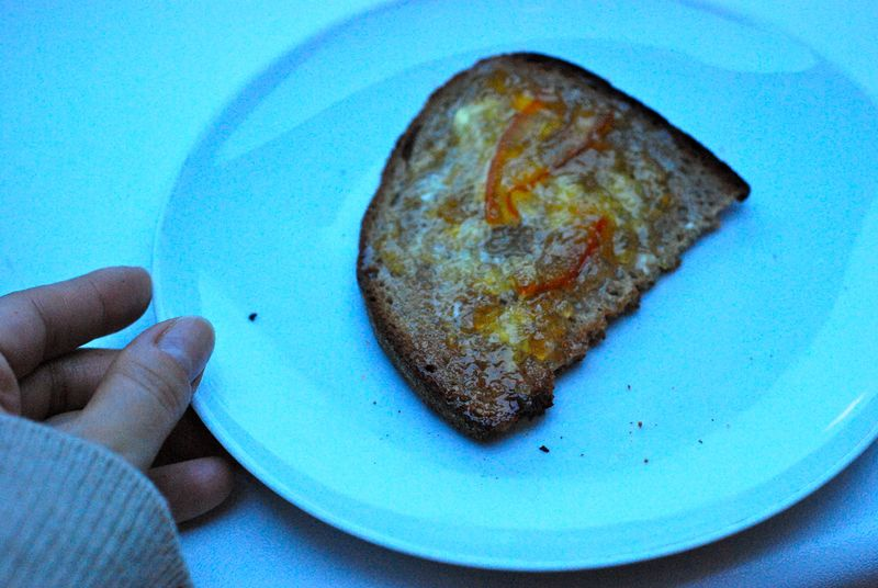Seville orange marmalade on toast