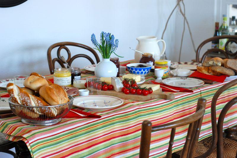German breakfast table