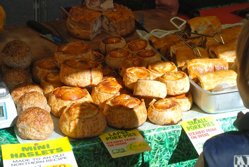 Pork pies at Barnes market