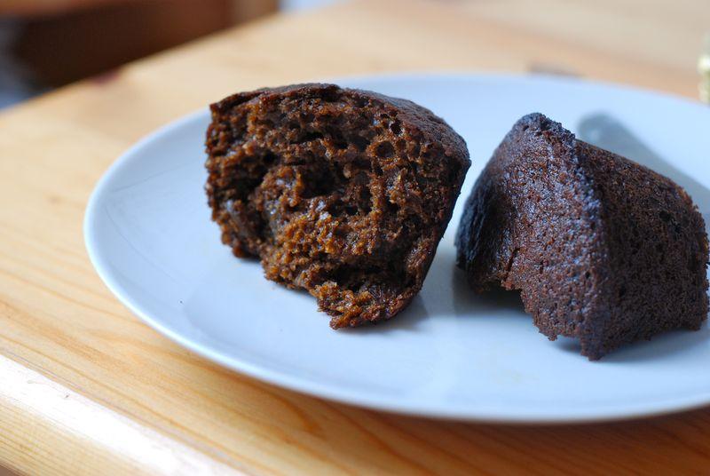 Boston brown bread muffin