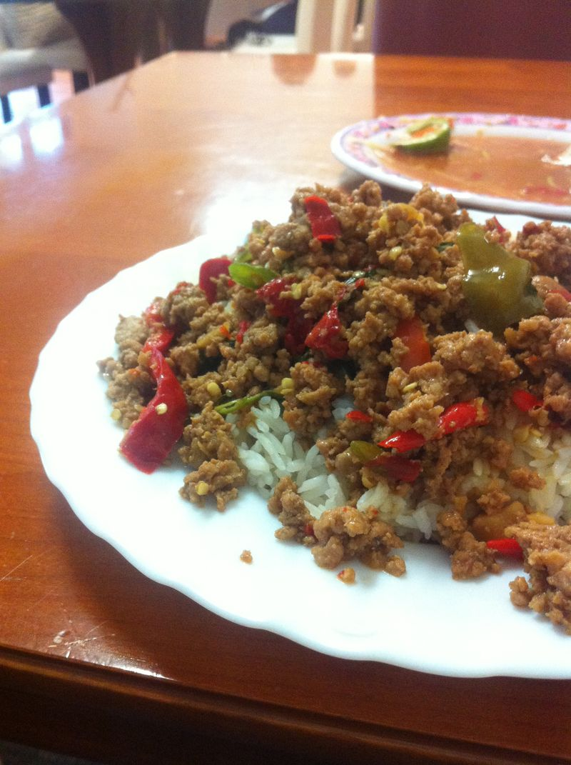 Ground pork with chiles