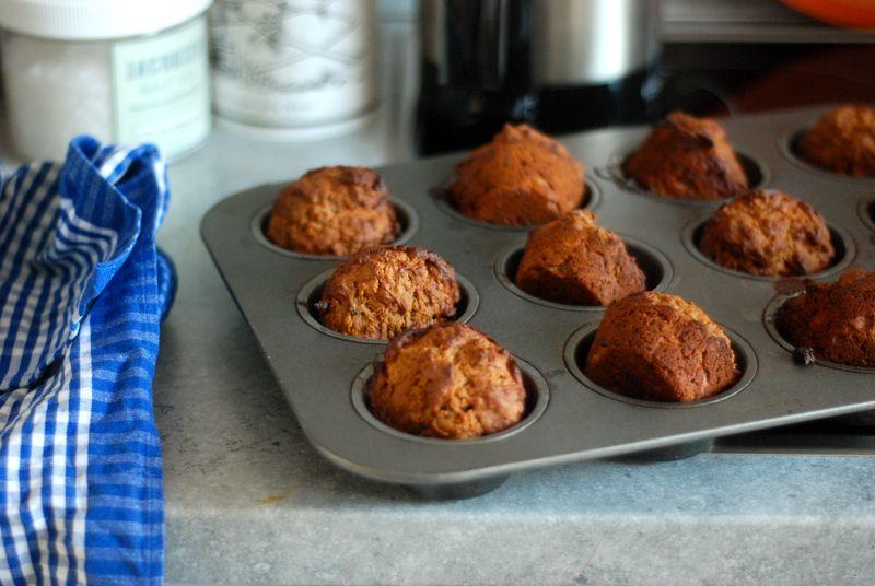 Banana rye muffins