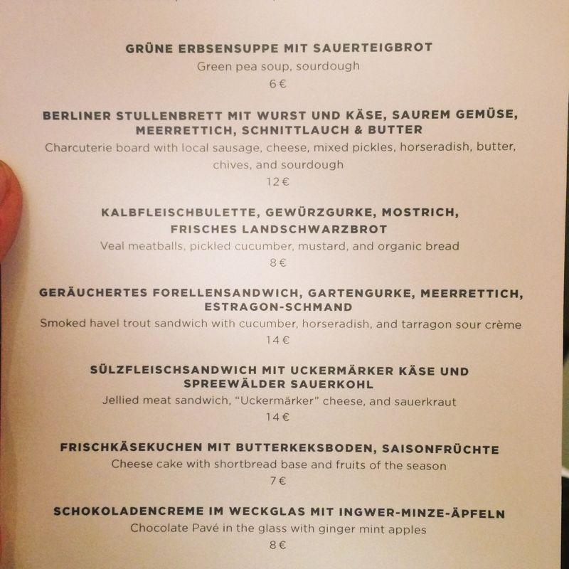 Hotel am Steinplatz room service menu
