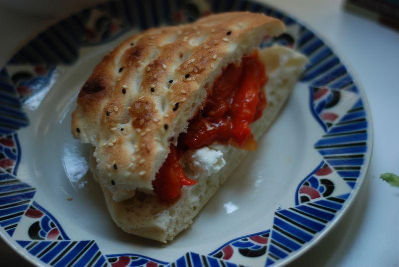 Peperonata sandwich