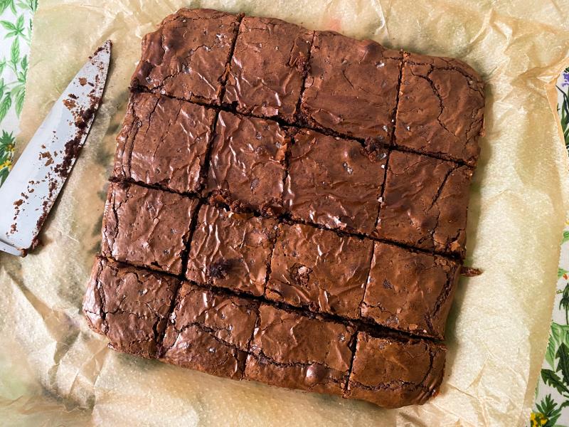 Buckwheat Nutella Brownies