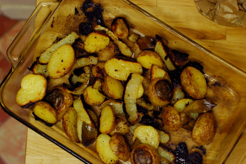 Mediterranean Rotisserie Leg Of Lamb With Potatoes, Fennel, And Olives ...